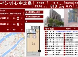 Osaka·【总价约52万元人民币!大阪北区1K  收益向公寓】
