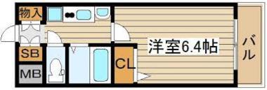 日本大阪市-ESUTEMU梅田天神桥河口公寓