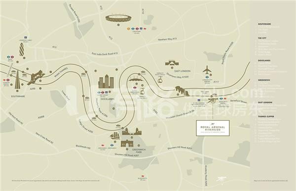 イギリスロンドン-Royal arsenal riverside
