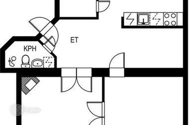 芬兰-带壁炉精致二居室