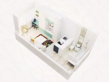 俄罗斯莫斯科-精装一室公寓