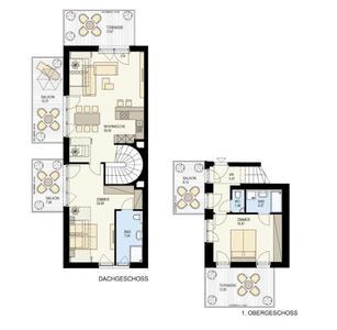 奥地利-多瑙河22区复式阳光公寓