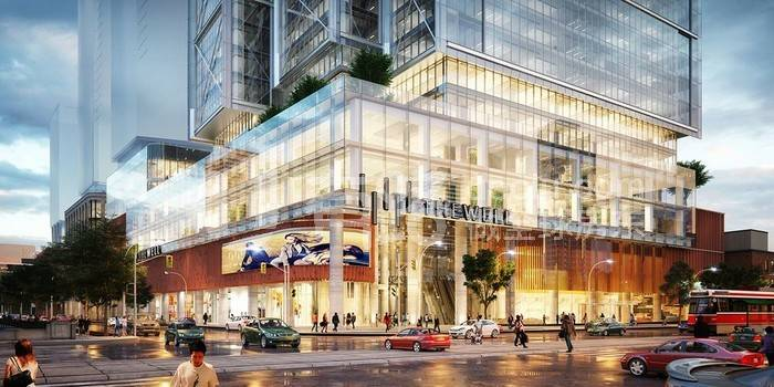 加拿大多倫多-The 2019 super market The Well is shocking, Tridel is ingenuity to create a residential, catering, office, shopping in one of the distinguished communities