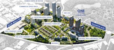 加拿大多伦多-北约克轻轨线上Don Mills/Eglinton最新大型新兴社区Crosstown Condos