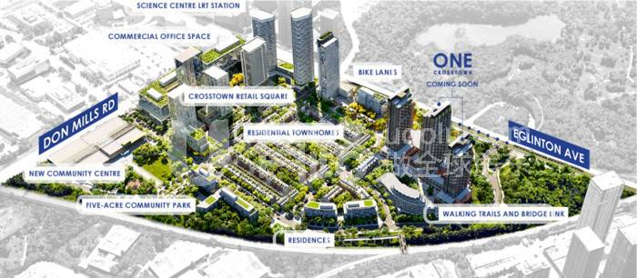 加拿大多倫多-North York Light Rail Line Don Mills/Eglinton's newest large emerging community, Crosstown Condos