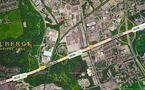 CanadaToronto-Leslie & Eglinton northeast corner Chateau Auberge Condos, LRT light rail at the door open in 2020