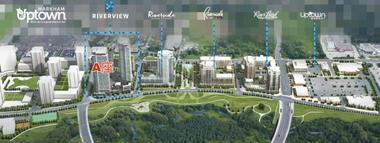 加拿大多伦多-万锦市核心区域新楼盘 Uptown Markham河悦华庭最值期待A楼