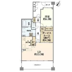 日本-神奈川県 横浜市 公寓 |两室一厅空间,适合一家人住