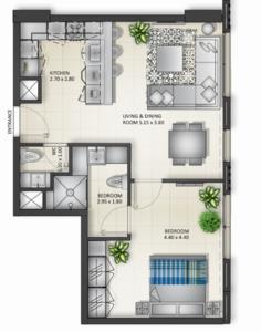 阿联酋沙迦-玛莎大学城公寓