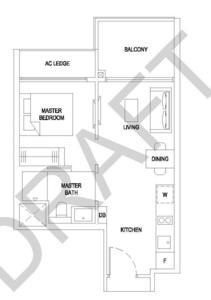 新加坡-新加坡中部 地铁 大型俱乐部公寓 悦湖苑 flornece residence