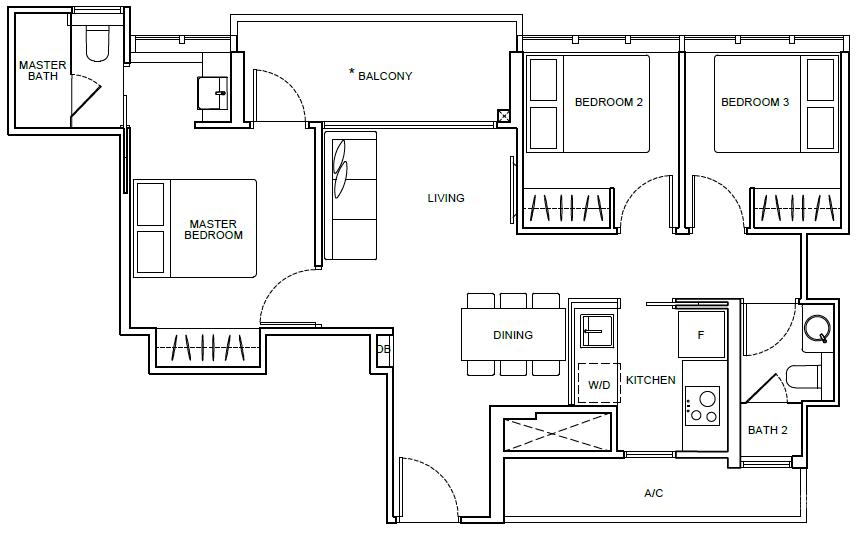 新加坡-新加坡市区永久产权地铁学区房Arena Residences