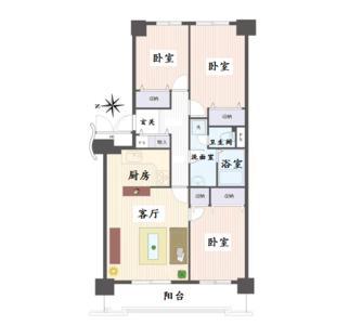 日本东京-东京板桥区赤塚三室一厅精品公寓 光丘公园旁