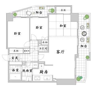 日本东京-东京涩谷区神泉町高级公寓 代代木、新宿夜景