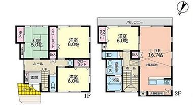 日本横滨-横浜市港北区菊名5丁目 新築分譲住宅全9棟 D号棟